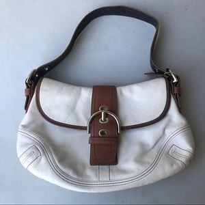 White Coach Leather Bag